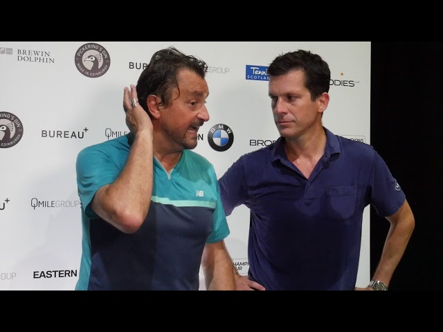 Tim Henman v Henri Leconte: Brodies Tennis Invitational 2019