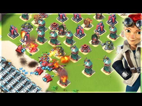 Boom Beach Resource Base Takedowns!! Scorcher Spam!