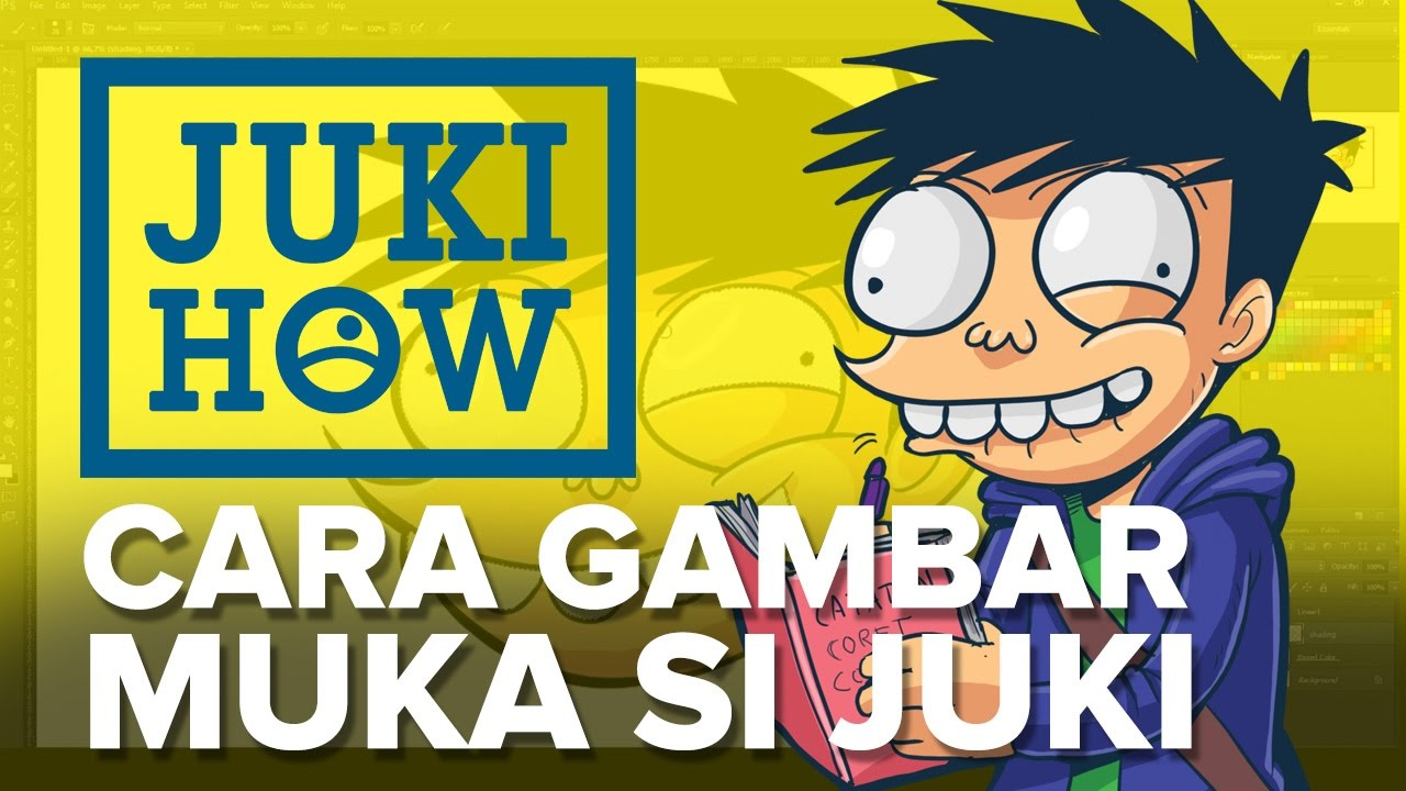 Jukihow Cara Gambar Muka Si Juki Youtube