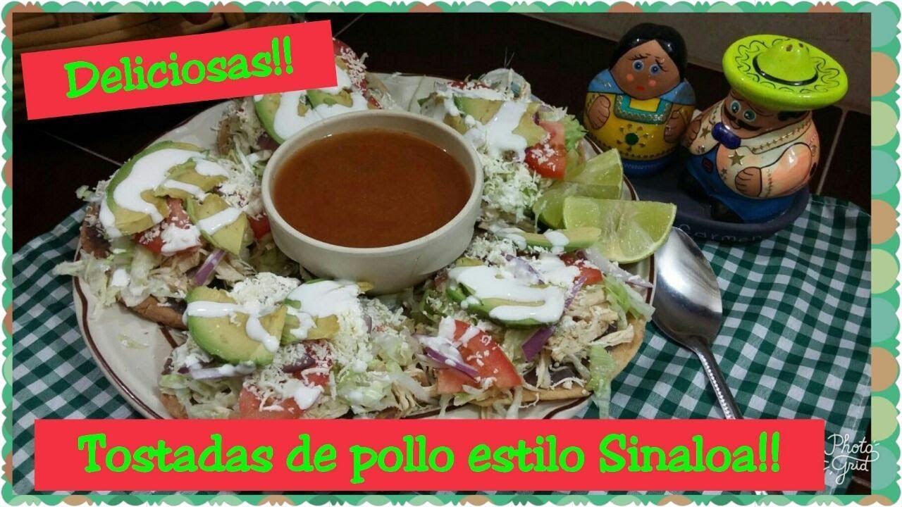 tostadas de pollo estilo Sinaloa !! - YouTube