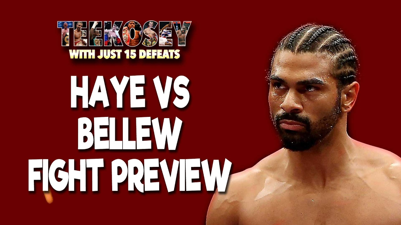 Haye Bellew Predictions