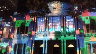 Christmas projection, Sydney, Town Hall