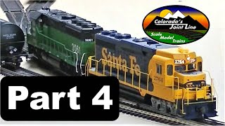 Model Railroad Layout Ops Session (Part 4 of 6) with ATSF, BN, SP, & D&RGW Trains