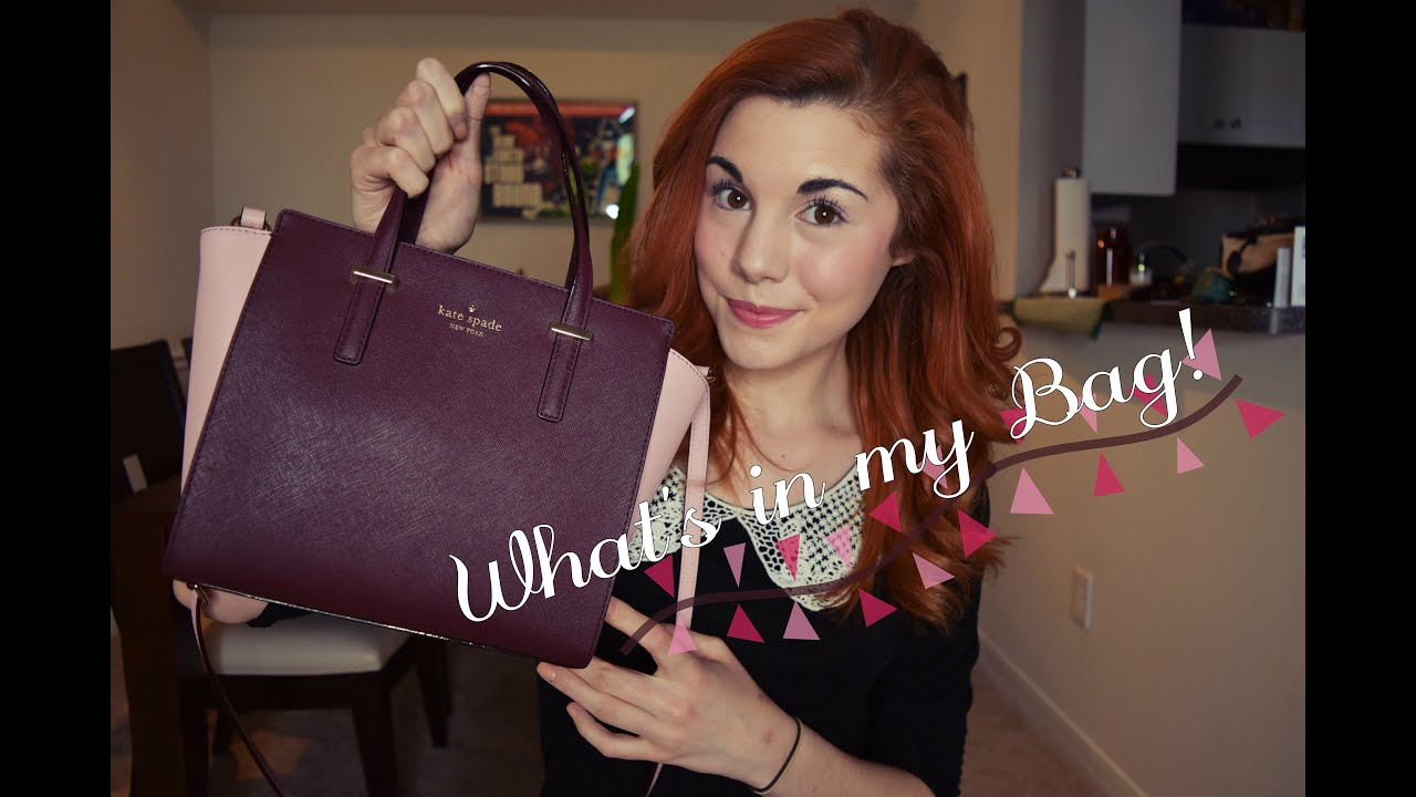 Whats In My Bag Kate Spade Small Hayden Youtube Pink