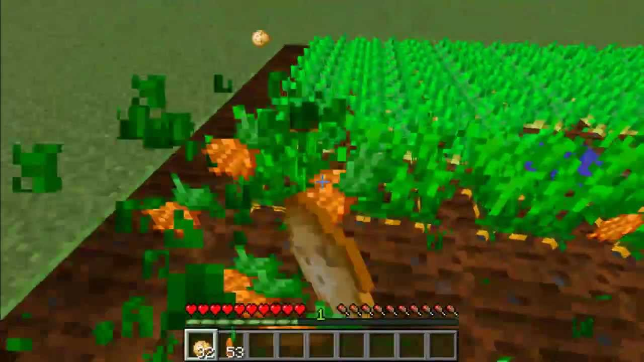 Minecraft How To Farm Carrots And Potatoes Youtube