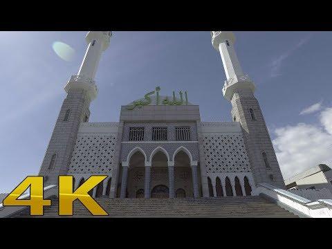 Walking around mosque in seoul 4k