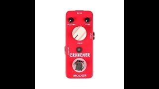 "Distorsion MOOER Cruncher - demo by Paolo ""Ballard"" Ballardini"