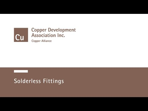 Solderless Fittings - YouTube