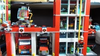 Lego City 2013 Fire Station Review 60004