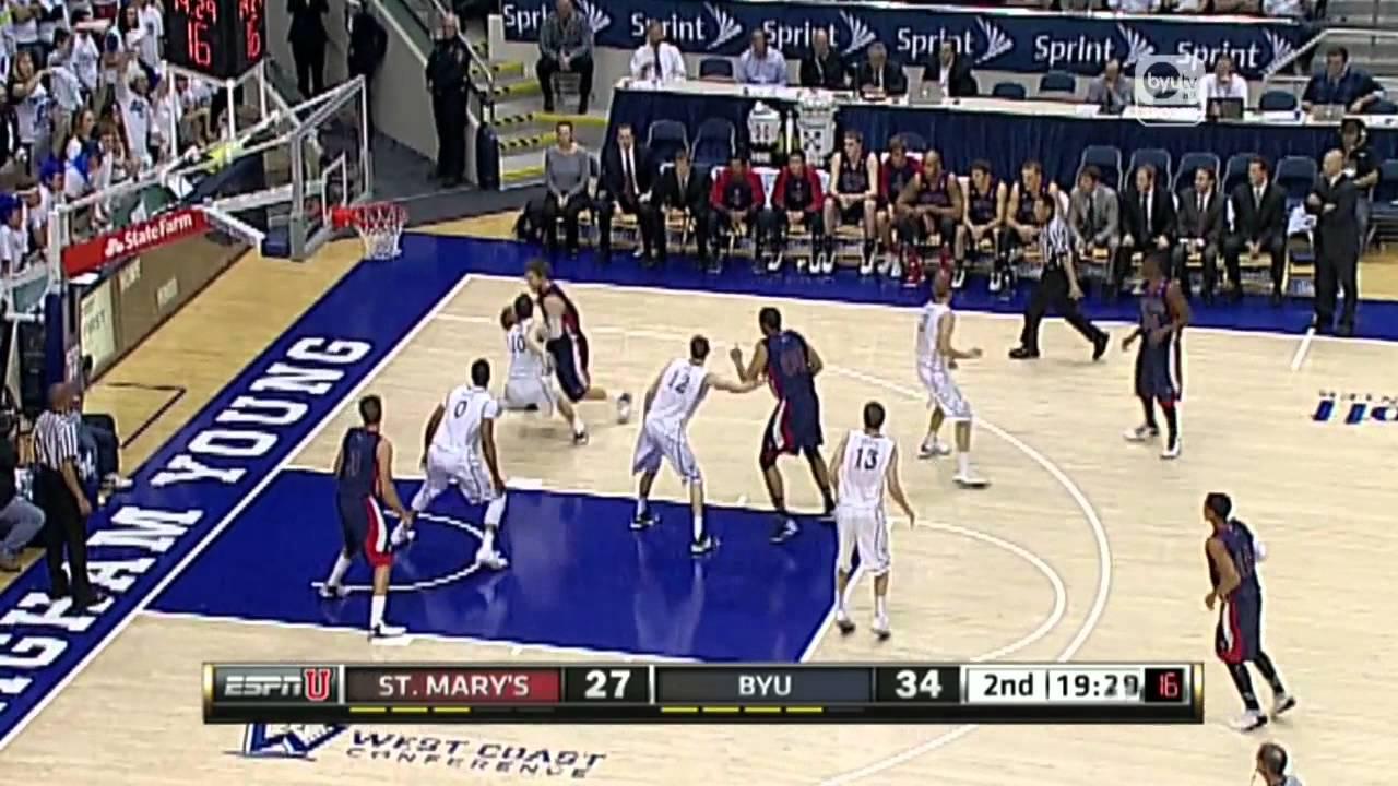 Saint Mary's vs BYU Highlights (1/16/13) - YouTube