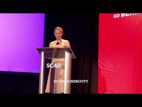 Jennifer Morrison receiving the Spotlight Award at SCAD aTV Fest