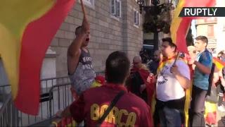 Manifestación en Barcelona contra de la independencia de Cataluña