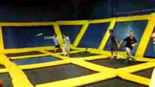 TRAMPOLINE DODGEBALL VS MY BROTHER
