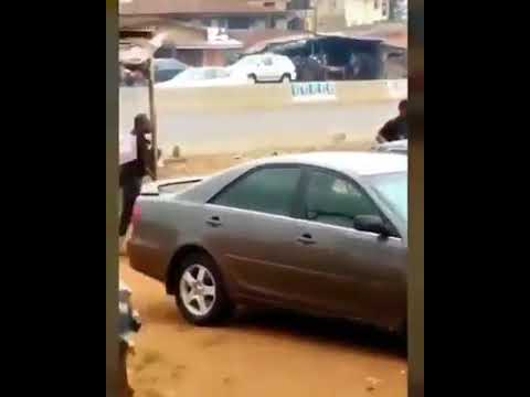 Video shows Nigerian police officers shooting unarmed civilian in Benin City, Edo State