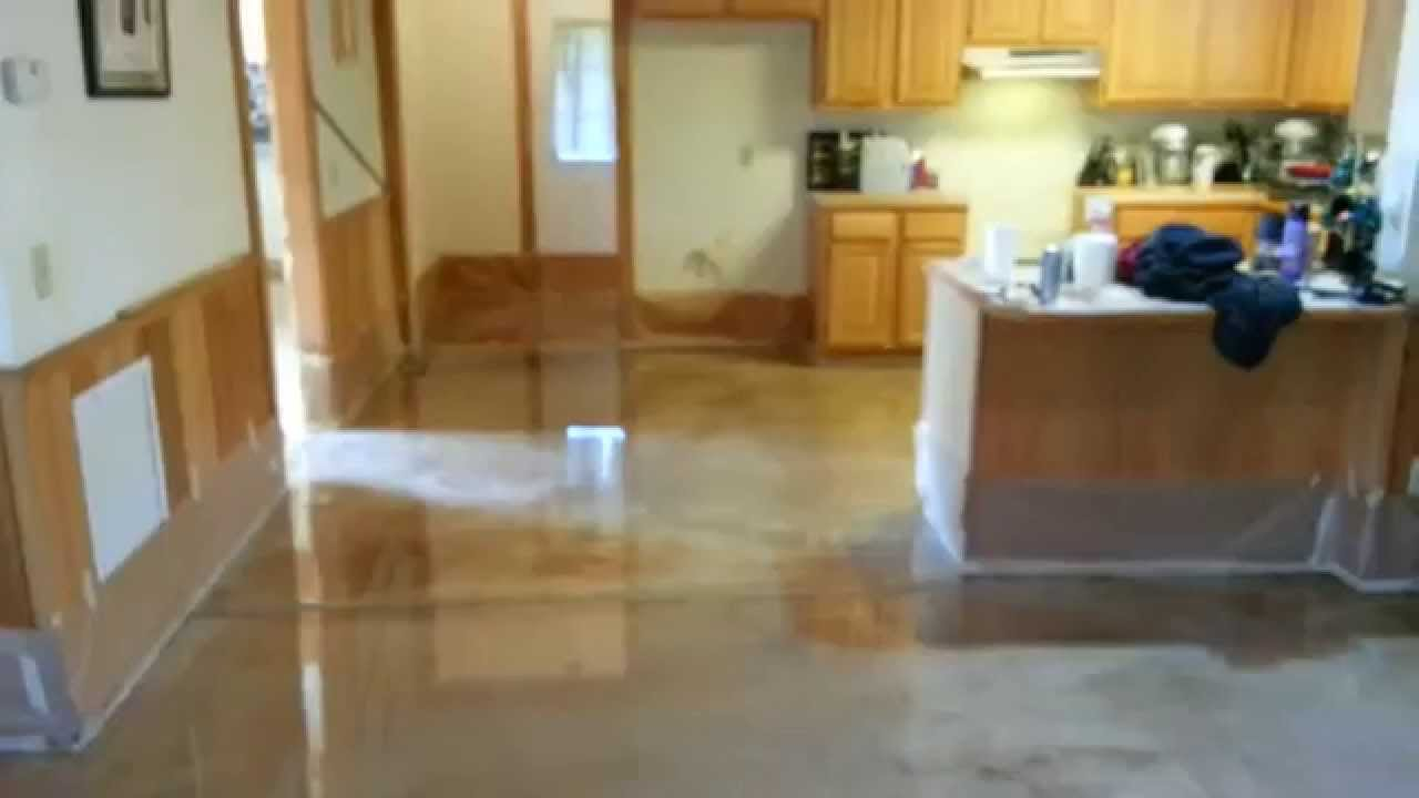 Epoxy Floor In Log Home