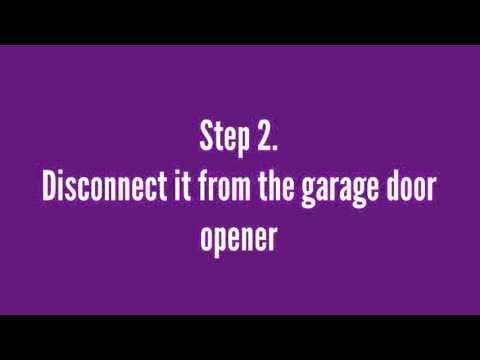 How To Do Garage Door Balance Test Youtube