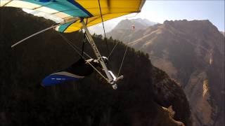Учебный полет на дельтаплане.Чегем,11 2013