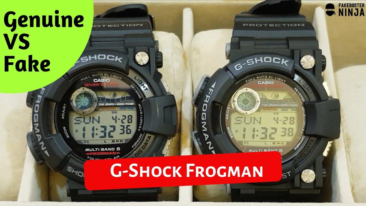 G Shock Frogman Genuine Vs Fake Comparison 2019 Youtube