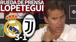 Real Madrid 3-1 Juventus| Rueda de prensa de Lopetegui durante la ICC 2018 | Diario AS
