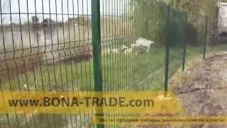Ограждение участка забором из металла с калиткой и воротами(, 2014-12-04T11:08:30.000Z)