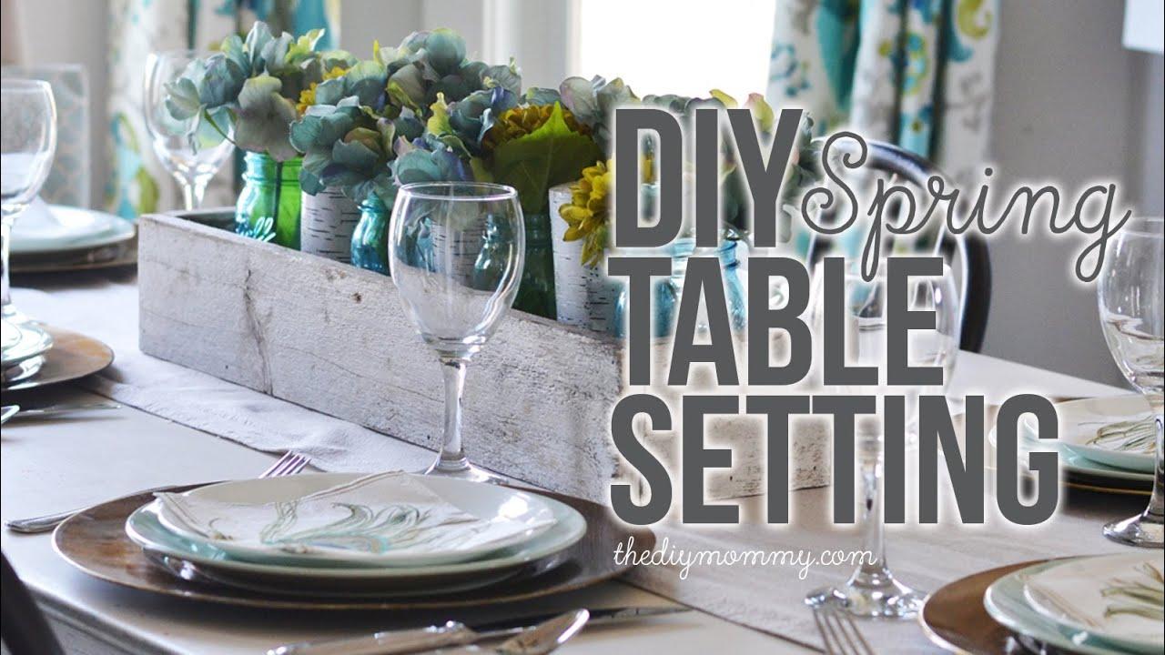 DIY Spring or Summer Table Setting Idea - YouTube