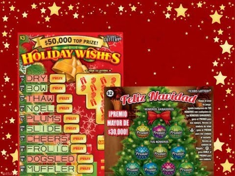 WIN! 2 X $3 Holiday Wishes & 2 X $2 Feliz Navidad Texas Lottery Scratch Off Tickets
