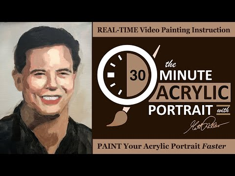 "The 30-Minute Acrylic Portrait: ""Happy Man in Black"""