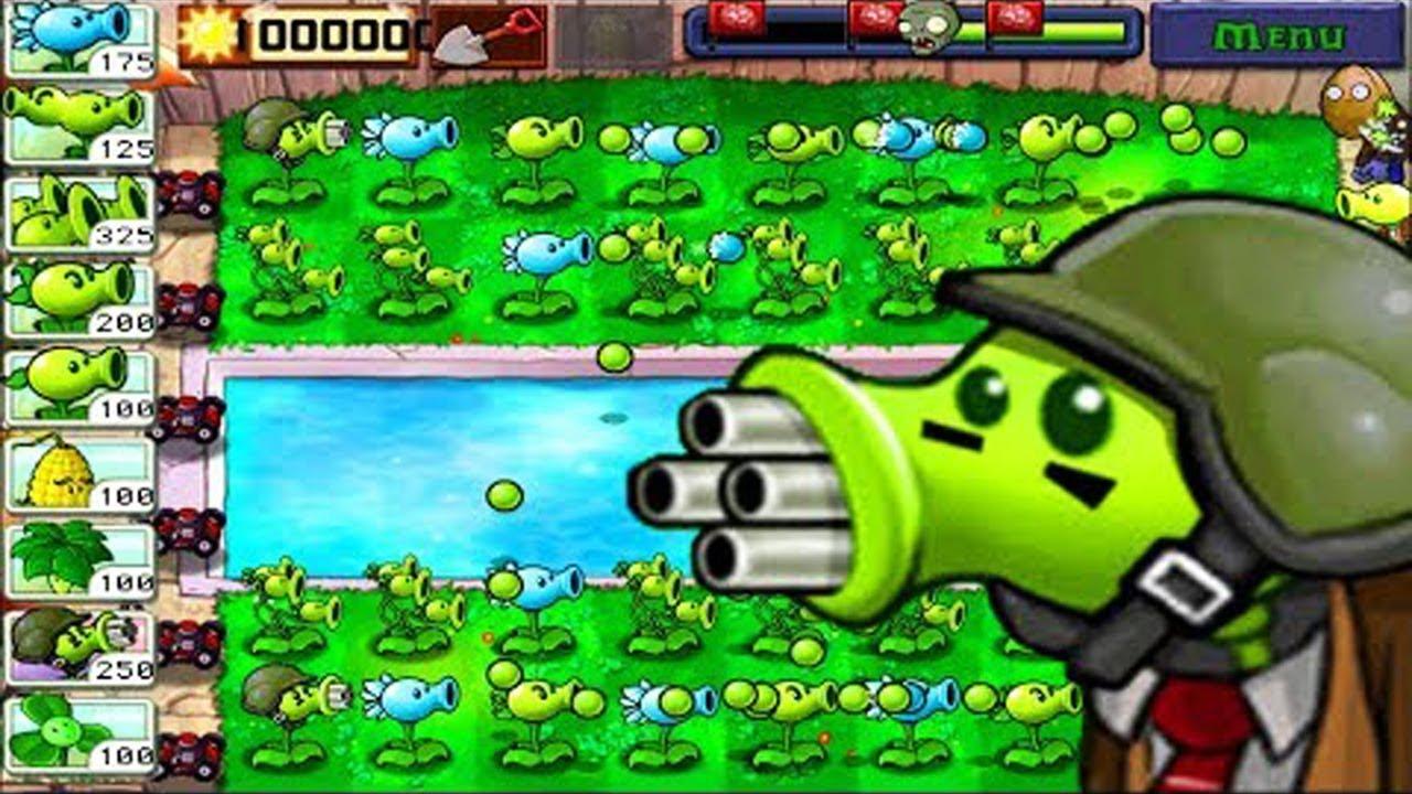 Best strategy Plants vs Zombies   All Pea PvZ shoot down Zombotany 2