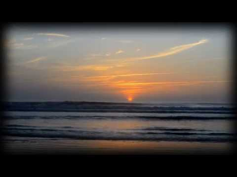 Beautiful Sunrise Over The Ocean and Relaxing Music - New Smyrna Beach Florida