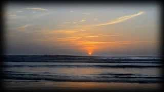 Beautiful Sunrise Over The Ocean - New Smyrna Beach Florida - Relaxing New Age Music