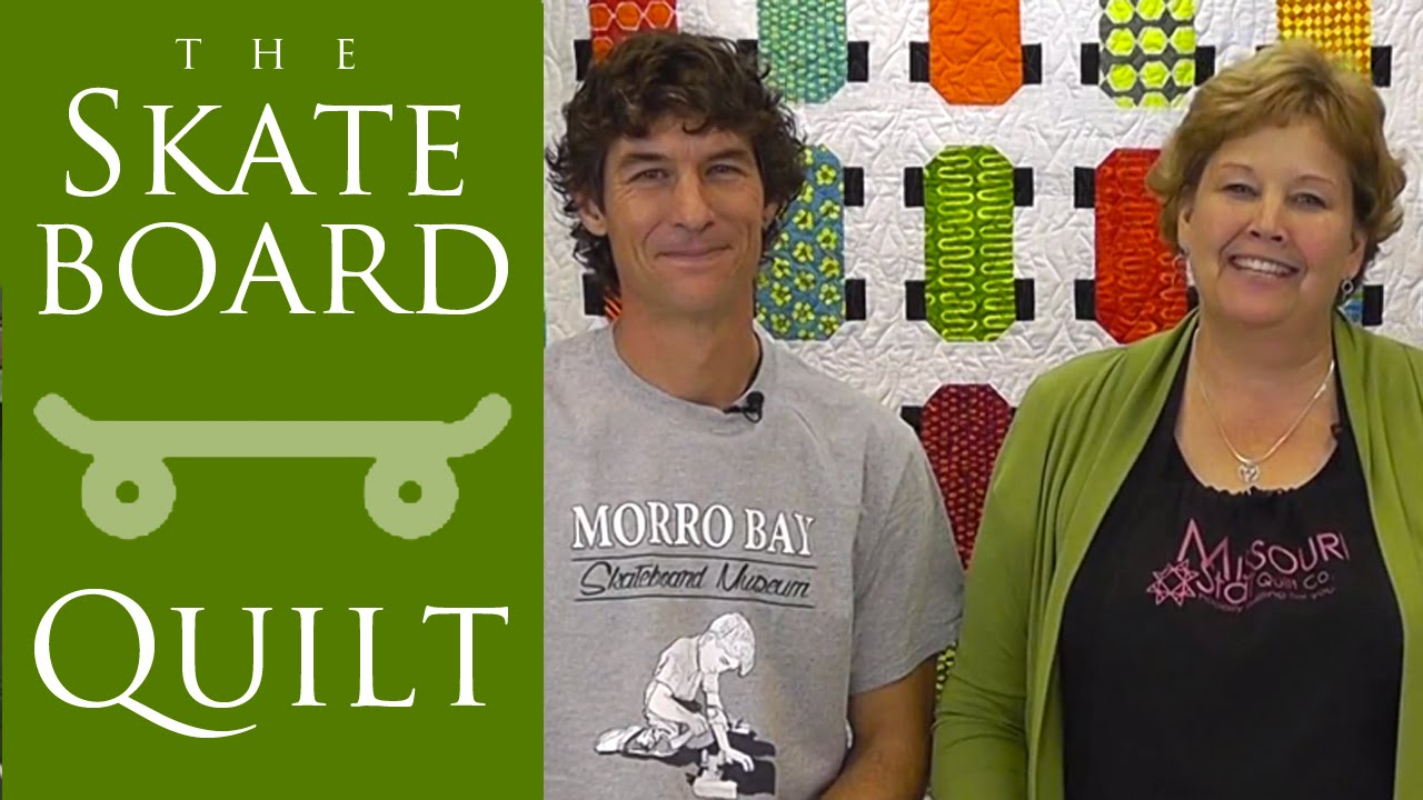 Download Make the Skateboard Quilt with Jenny Doan of Missouri Star and Rob Appell! (Video Tutorial)