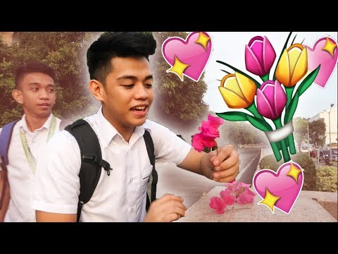 GIVING FLOWERS TO STRANGER **sweetest**