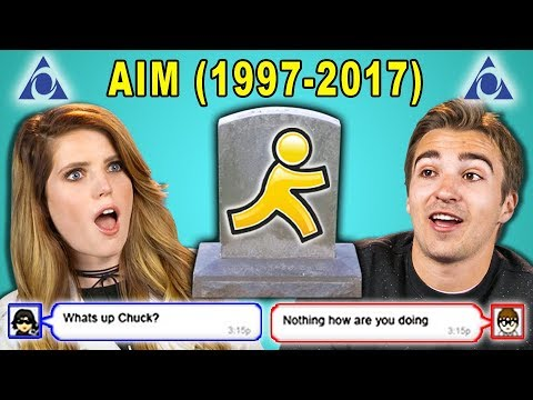 ADULTS REACT TO THE DEATH OF AIM (AOL Instant Messenger)