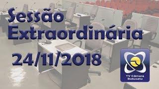 Sessão extraordinária 24/11/2018