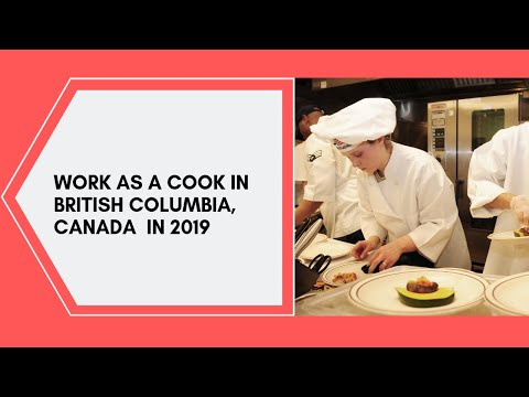 Work In Canada As A Cook -Job Openings 2019