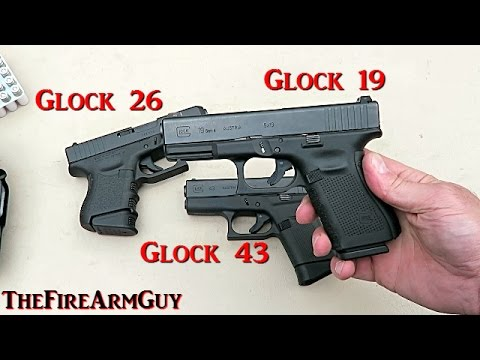 Glock 19 Glock 26 Glock 43 Range Review Thefirearmguy Youtube