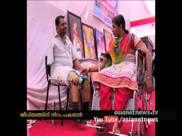 Punalur Sunny; Physically Challenged Artist