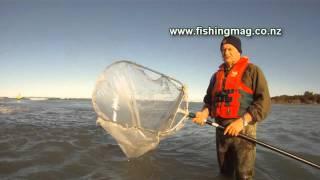 Whitebaiting Pole Nets Waimakariri River Fishing Allan Burgess