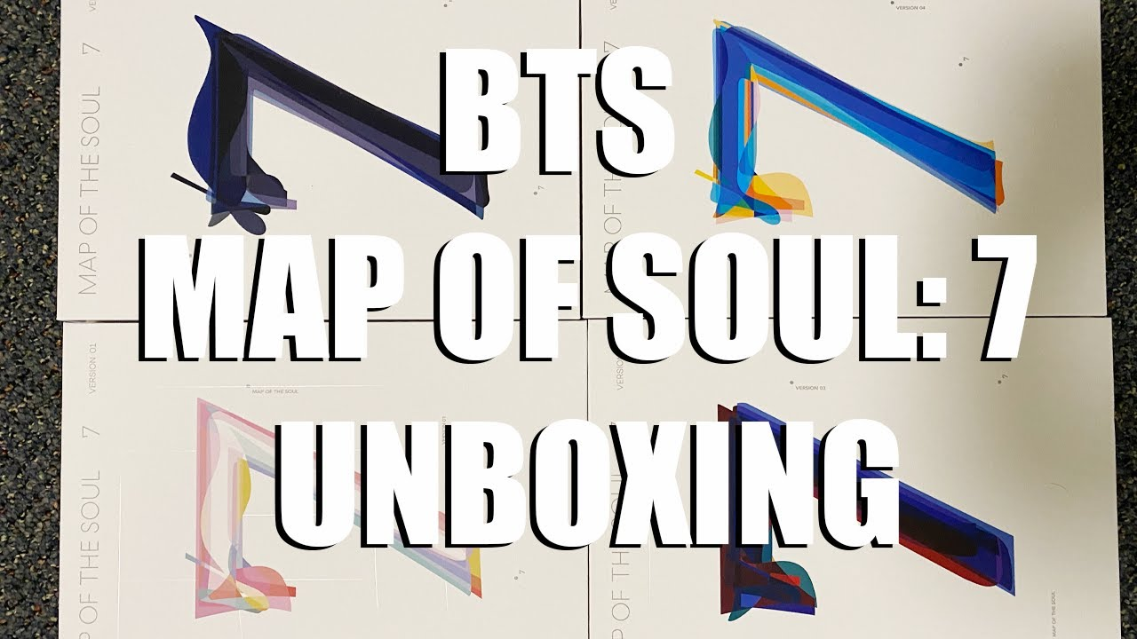 BTS MAP OF SOUL:7 UNBOXING (ALL FOUR VERSIONS)