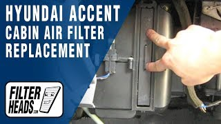Cabin air filter replacement Hyundai Accent