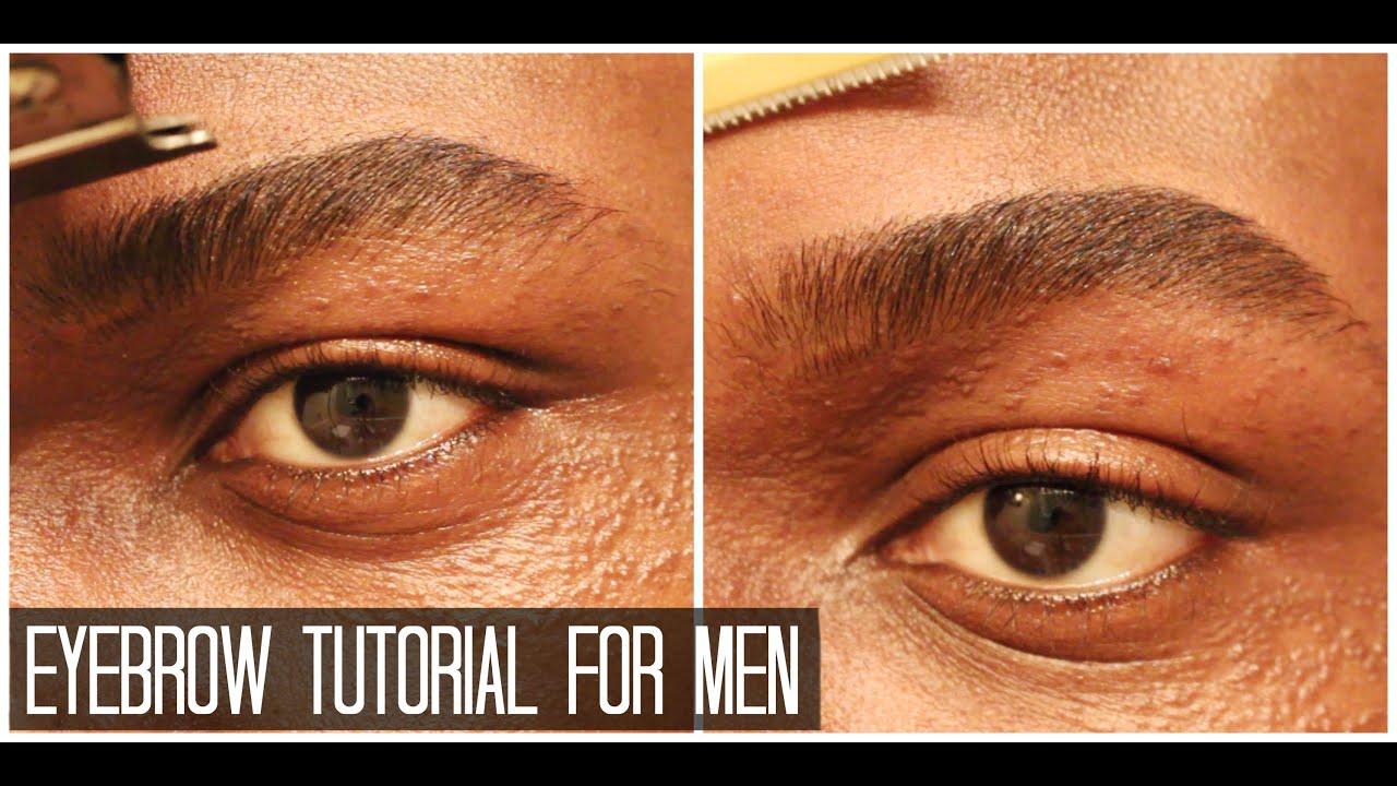 Diy How To Shape Eyebrows For Men Tutorial Dyrandoms Youtube