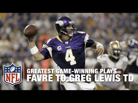 2009 Brett Favre To Greg Lewis Back of the End Zone Game-Winning TD | Vikings vs. 49ers | NFL