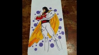 Copic Marker Speed Color Space Ghost with Commentary