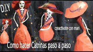 Como hacer una catrina, manualidades Día de muertos y Halloween