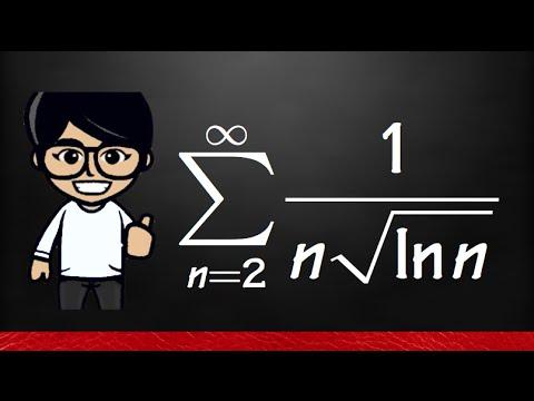 11.7#7 integral test, Series 1/(n*sqrt(ln(n)))