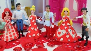 Play Doh Disney Princess Rapunzel Cinderella Magic Clip Dress Fairytale Wedding Doll