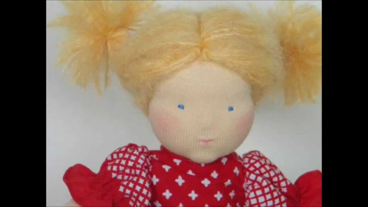 how to make a waldorf doll face