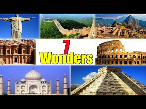 Seven wonders of the world with names and pictures 2020