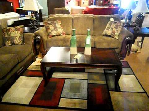 $499 Transitional Style Wood Trim Sofa