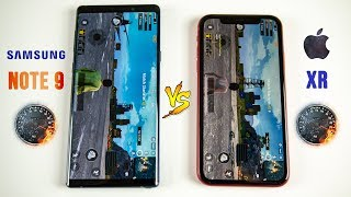 iPhone XR vs Galaxy Note 9 SPEED Test - This Was Unexpected..